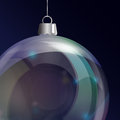 Glass bauble detail Royalty Free Stock Photos