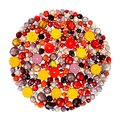 Glass beads beading jewelry making Royalty Free Stock Photos