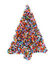Glass beads christmas tree Stock Photos