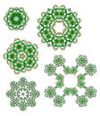 Glass beads design elements Stock Photo