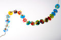 Glass beads on string Royalty Free Stock Photos