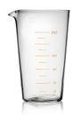 Glass beaker graduated Royalty Free Stock Photo