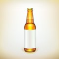 Glass beer brown bottle and label product packing ready for your design Royalty Free Stock Photos