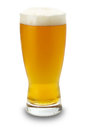 Glass of beer isolated on the white background Royalty Free Stock Photo