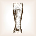 Glass of beer sketch style vector Royalty Free Stock Photo