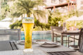 A glass of beer on the table Royalty Free Stock Photo