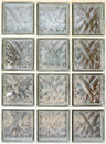 Glass block or tiled mosaic wall transparent for background Royalty Free Stock Photos