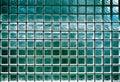 Glass block wall background night illumination Stock Photography