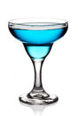 Glass of blue cocktail Royalty Free Stock Photo