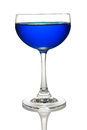Glass of Blue cocktails color Royalty Free Stock Photo