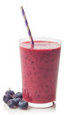 Glass of blueberry smoothie Royalty Free Stock Photo