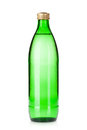 Glass bottle of sparkling water Royalty Free Stock Photo