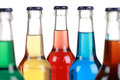 Glass bottles with soft drinks Royalty Free Stock Photo