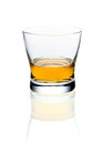 Glass of brandy or whisky Stock Photos