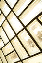 Glass brick wall a background architecture interior Royalty Free Stock Photo