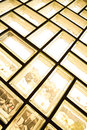 Glass brick wall a backround architecture interior Royalty Free Stock Images