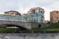 Glass bridge moscow Royalty Free Stock Photo