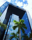 Glass building a modern in downtown miami Stock Images