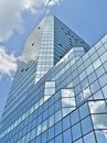 Glass building in Warsaw Royalty Free Stock Images