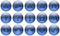 Glass Button Set 3 Royalty Free Stock Photos