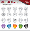 Glass buttons laundry for web usage laungry and textile signs color variations included Stock Photos