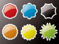 Glass buttons outlined Royalty Free Stock Image