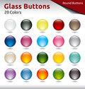 Glass buttons round in color variations Stock Photo