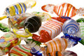 Glass candies top pile Royalty Free Stock Photos