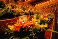 Sklo sviečka držiaky na oltár kúpala v jantár svetlá