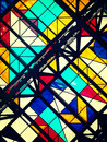 Color photo of glass ceiling with geometric shapes Royalty Free Stock Photo