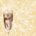 Glass of champagne. Royalty Free Stock Photography