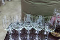 Glass champagne stemware Royalty Free Stock Photo