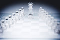 Glass chess board pieces of Royalty Free Stock Photography