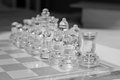 Glass chess stock photo of Royalty Free Stock Photos