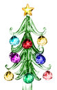 Glass christmas tree Royalty Free Stock Images