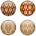Glass Circle Button Basque Textures Royalty Free Stock Photo