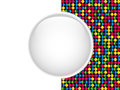 Glass Circle Button Colorful Dots Stock Image