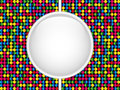 Glass Circle Button Colorful Dots Royalty Free Stock Photos