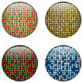Glass Circle Button Colorful Dots Royalty Free Stock Images