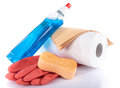 Glass cleaner with cleaning equipment