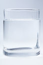 Glass of clear water Stock Image