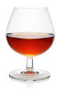 Glass of cognac. Royalty Free Stock Photo