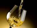 Glass of cognac set in cellar Royalty Free Stock Images