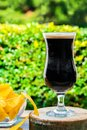 A glass of cold dark beer Royalty Free Stock Photo