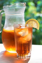Glass of cold Ice Tea Royalty Free Stock Photography