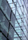 Glass and concrete construction with reflections Royalty Free Stock Photos