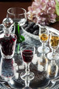 Glass of cordial Royalty Free Stock Image