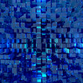 Glass cubes reflects blue light futuristic cube pattern with reflections not seamless texture Stock Photos