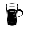 Glass cup juicy refreshment pictogram