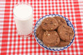 Glass cup of milk and cookies Royalty Free Stock Images